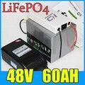 48V 60AH LiFePO4 batterie  3000W vélo électrique Scooter batterie au lithium + BMS + chargeur  livraison gratuite