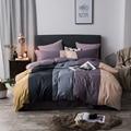 100% хлопок, кофейный, серый, фиолетовый, зеленый, розовый комплект постельного белья, двойной, королева, король, размер, дети, взрослые, пододе...
