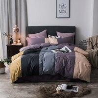 100% Cotton coffee grey purple green pink Bedding Set twin queen king size kids adults Duvet cover Bed sheets set parure de lit