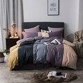 100% Katoen koffie grijs paars groen roze Beddengoed Set twin queen king size kids volwassenen dekbedovertrek lakens set parure de lit