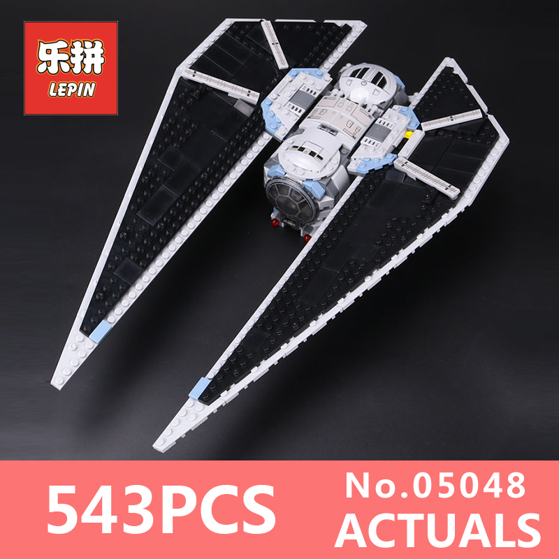 Star Wars Lepin 05048 TIE Striker Model Building Kits Blocks Clone Bricks for Children Toys for boys LegoINGlys 75154 Gifts star wars boys black