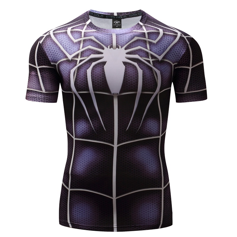 Kurzarm 3D t shirts Männer Compression Kurzarm T-shirts Superhero Quick Dry Tops Bodybui