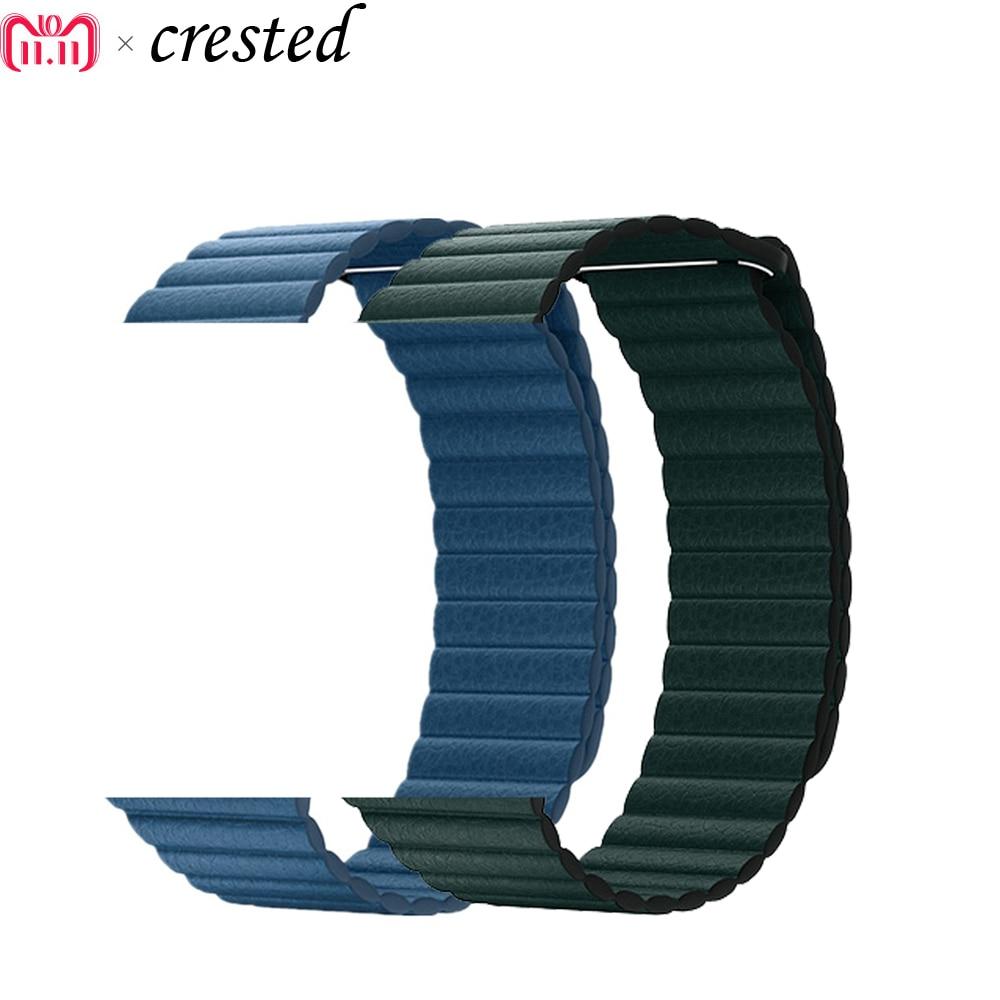 Correa de cuero para Apple Watch band 44mm/40mm iWatch series 4 3/2/1 42mm/38mm Cierre magnético pulsera Correa kkkk