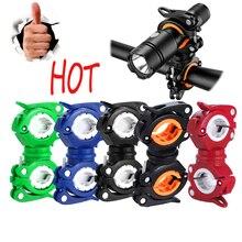 HOT mountain bike riding Multifunctional lamp holder bicycle flashlight rotatable clamp headlight bracket car clip