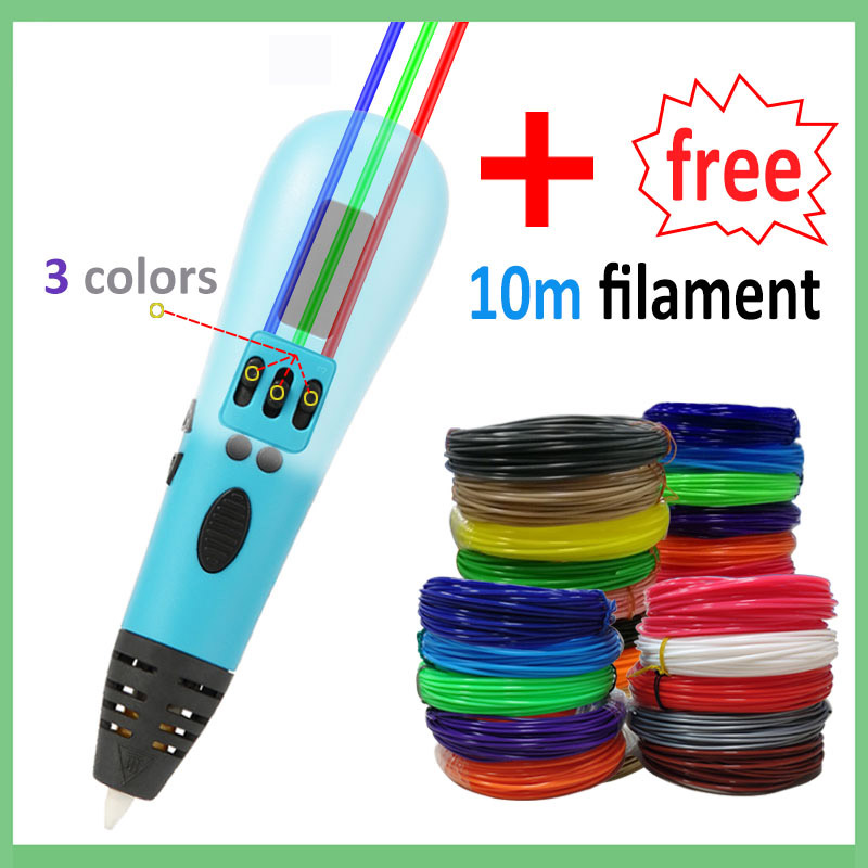 3D pen support 1.75mm ABS and PLA filament diy drawing pen with OLED display printing pen 3 D printer pen(China)