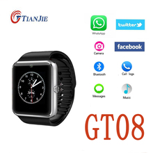 Bluetooth gt08 smartwatch sim/mp3