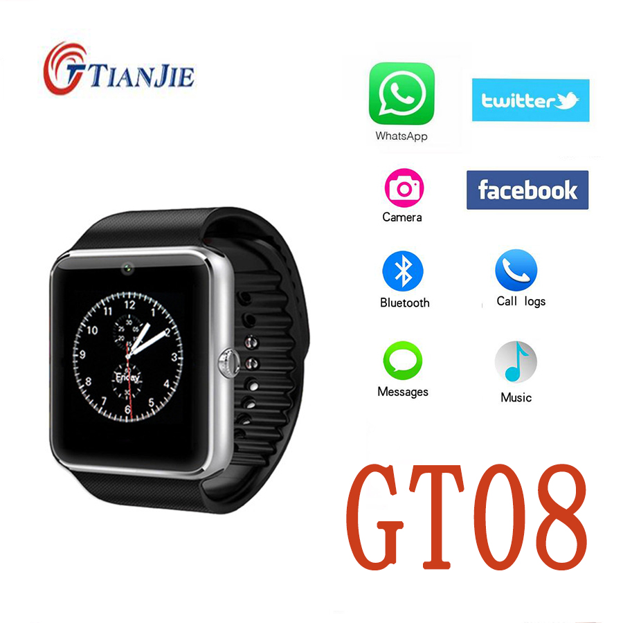 Bluetooth Smart Watch GT08 U8 Digital Wrist With Men Sport Relogios for iPhone Samsung Huawei Android IOS Phone PK DZ09 A1 Gv18