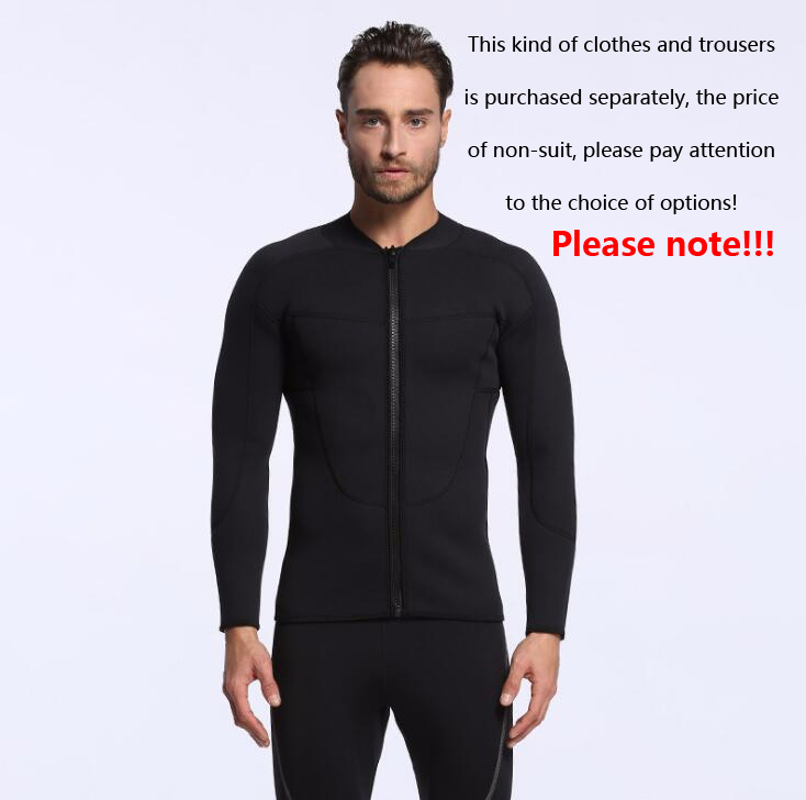 b889aec1b4 Detail Feedback Questions about 3mm all black men s surfing jacket chlorine diving  suit warm jacket wetsuit Large long sleeve on Aliexpress.com