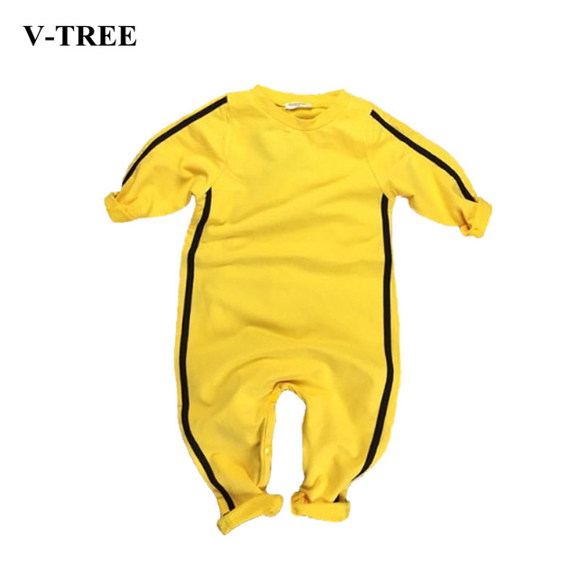 f1744a4b46b5 Bruce Lee Kung Fu Baby Clothes Coveralls For Newborns Baby Boy ...