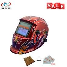 Новое пламя огонь фокус Солнечная Mig tig Сварочная маска сварочный аппарат защита для сварки TRQ-HD06 с 223de-yg