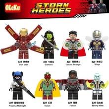 Os mais recentes Para Venda Quente Marvel Super Heroes Thor homem Aranha Homem De Ferro Avengers Infinito Guerra Falcon Modelo Building Blocks Brinquedos figuras