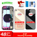 for Apple Chassis IPhone 8 8Plus Housing Middle Frame Bezel Battery Door Rear Cover Body With Flex Cables Buttons with CE LOGO