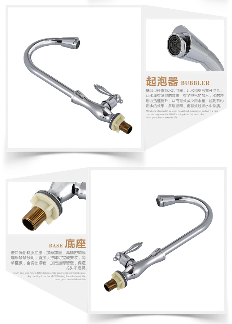 Free shipping single cold water kitchen faucet with Zinc alloy cold kitchen sink mixer tap , sanitary faucet