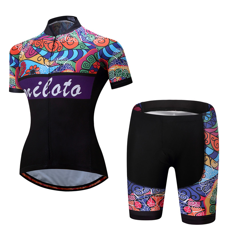 2017 Breathable Women Cycling Jersey Sets Ropa Ciclismo Quick Dry Bicycle Cycling Clothing Maillot mtb Bike Jersey Cycling Wear veobike 2018 pro team summer big cycling set mtb bike clothing racing bicycle clothes maillot ropa ciclismo cycling jersey sets