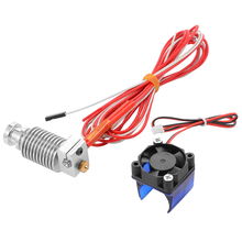 For V6 J-head Hotend 1.75mm 0.4mm Nozzle Long Distance Extruder 3d Printer Parts 3d Sensor Hotend Trianglelab Bltouch Titan картридж hp ce312a 126a желтый laserjet cp1025