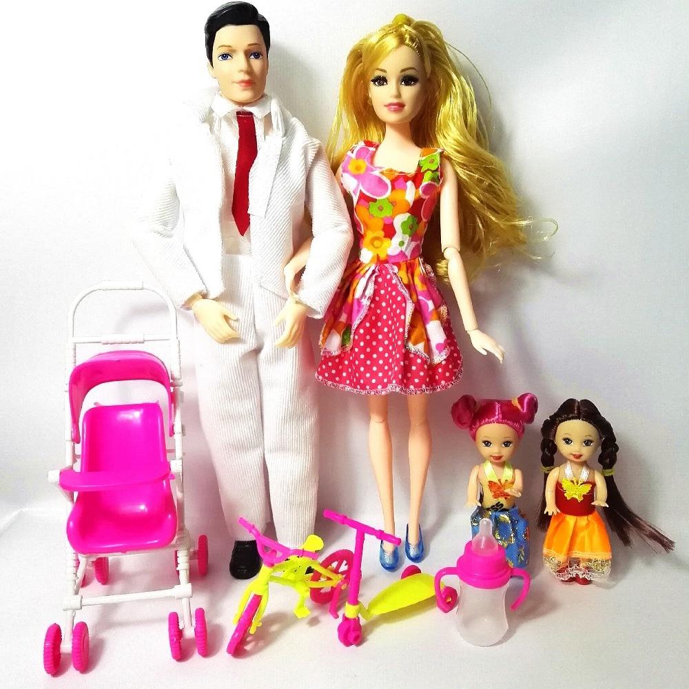 Juguetes Moda Familiar 4 Personas Trajes de muñecas 1 Mamá / 1 - Muñecas y accesorios