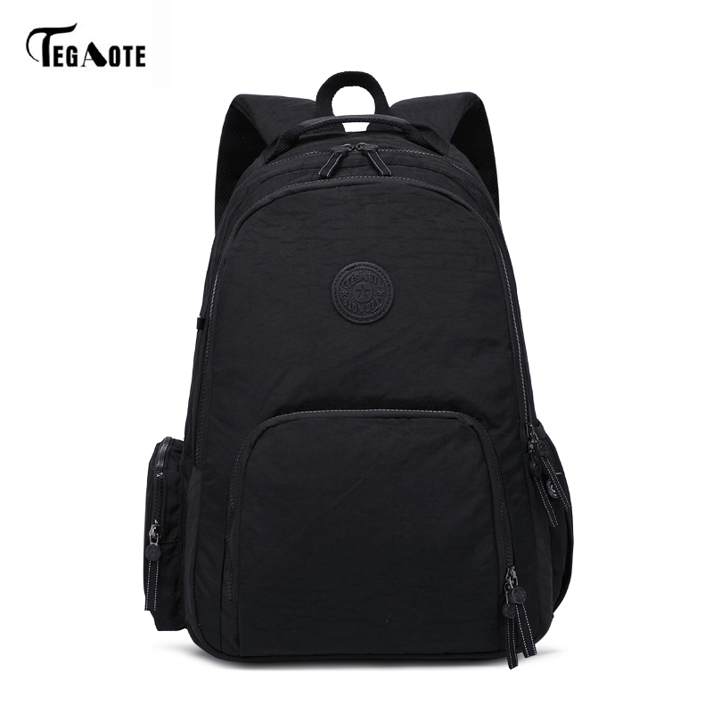 TEGAOTE Fashion Women Backpack High Quality Youth Nylon Backpacks for Teenage Girls Female School Shoulder Bag Bagpack mochila women backpacks for teenage girls youth daypacks new school shoulder bag student nylon waterproof laptop multifunction backpack