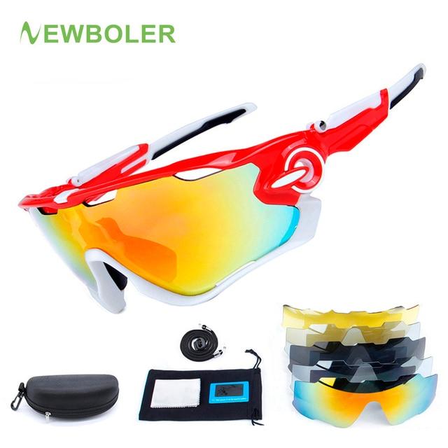 67e3de3340 Cheap NEWBOLER 5 Lens Cycling Glasses Women Polarized Racing Sport  Sunglasses TR90 UV400 Cycling Eyewear Bike