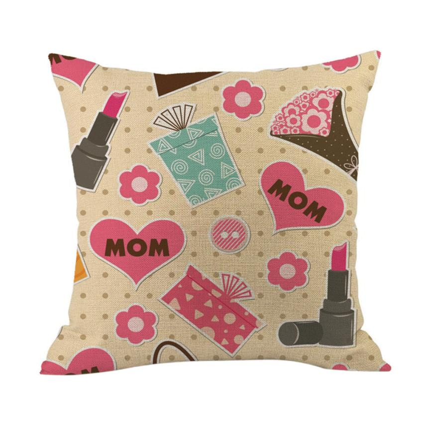 2018 Pillow Case 45*45 Happy Mothers' Day Sofa Bed Home