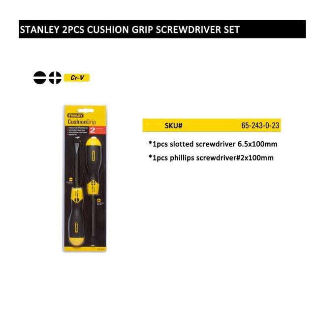 Stanley 4pcs 2pcs slotted phillips magnetizer precision screwdriver set kits screwdrivers large handle great torque Cr.v steel 4