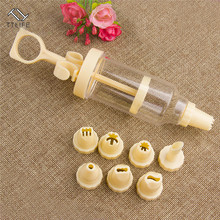 TTLIFE 9pcs Cookie Tips Pastry Nozzles Plastic 1 Set 8Pcs Cream Nozzle Gun DIY Syringe Extruder Kitchen Gadgets New