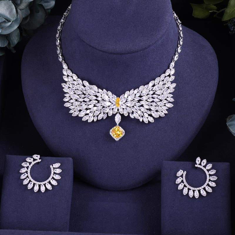 jankelly Famous Bridal Zirconia Jewelry Sets For Women ...