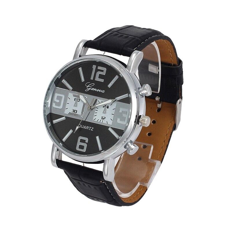 eaeefa9c377 Excelente Qualidade Mens Relógios Top Marca de Luxo Quartz Relógio Fashion Business  Casual Masculino Relógio de Quartzo-Relógio Relogio masculino
