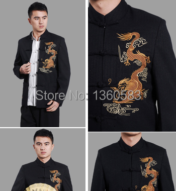 Quality male tang suit vintage long-sleeve autumn and winter national trend top tang suit jacket chinese style men's clothing все цены