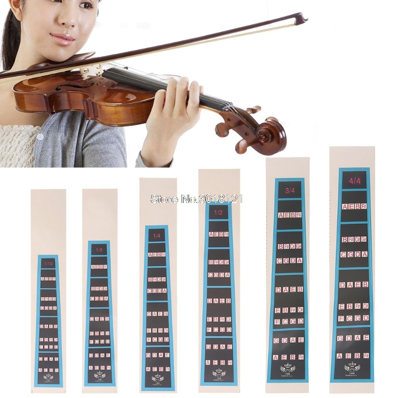 Violin Parts & Accessories Sunny 4/4 3/4 1/2 1/4 1/8 1/10 Violin Fiddle Finger Guide Fingerboard Sticker Practice Stringed Instruments