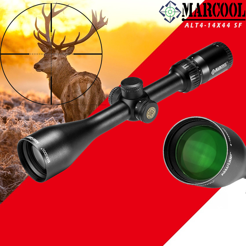MARCOOL ALT4 14X44 SF RIFLESCOPE for Hunting Tactical Optical Collimator Aim Sight  Rifle scope Grid for airsoft rifle outdoors|Riflescopes| |  - title=