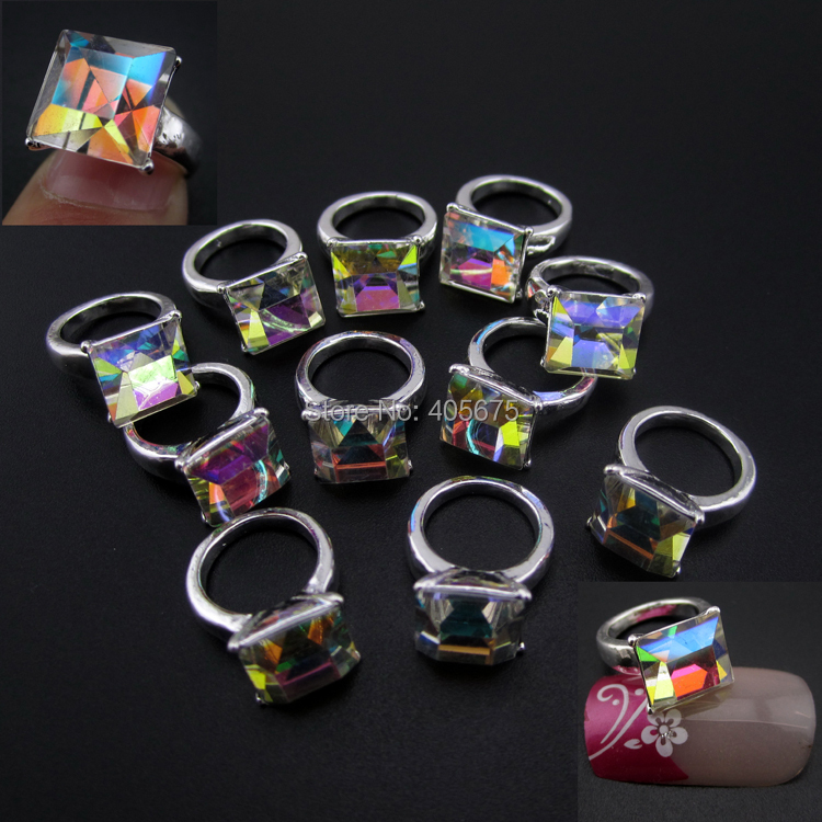 Glitter rings nail art jewelry nails decorations new arrive manicure ...