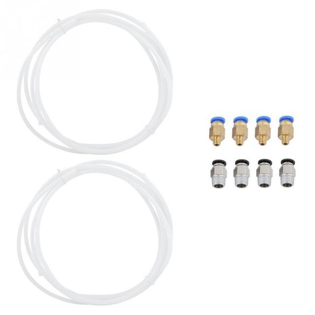 Pour 1.75mm Filament comprennent 2 pièces PTFE Tube + 4 pièces PC4-M6 Raccord Rapide + 4 pièces PC4-M10 Droite Pneumatique Raccord