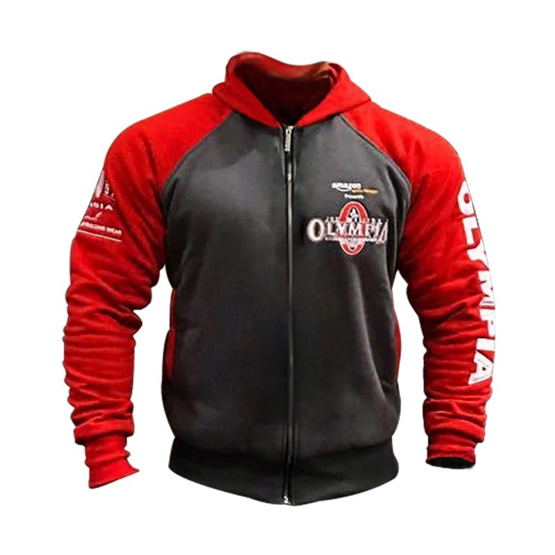 OLYMPIA Men Gyms Hoodies Fitness Bodybuilding Sweatshirt Pullover Sportswear Male Workout Hooded Jacket Clothing
