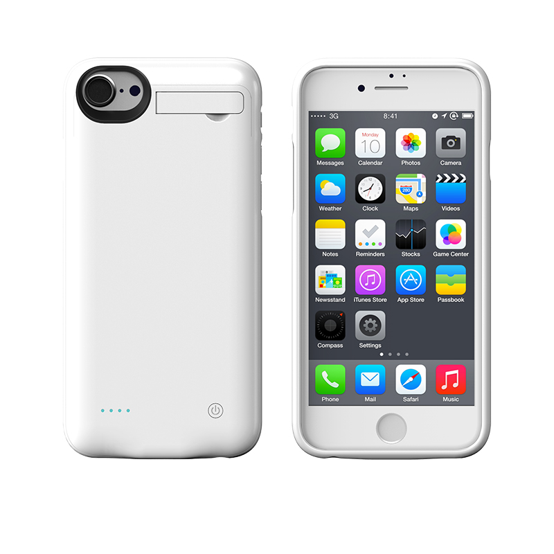 4000mAh Power Bank <font><b>Battery</b></font> Charger Case Charging Cover for <font><b>iPhone</b></font> 7 Plus <font><b>6</b></font> plus 6s plus with Magnetic Kickstand