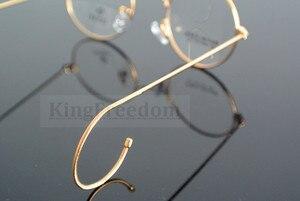 Image 5 - 42 мм маленький размер, винтажное круглое антикварное украшение с проволокой, оправа для очков, металлическая оправа, золотистого цвета, полная оправа, очки для близорукости