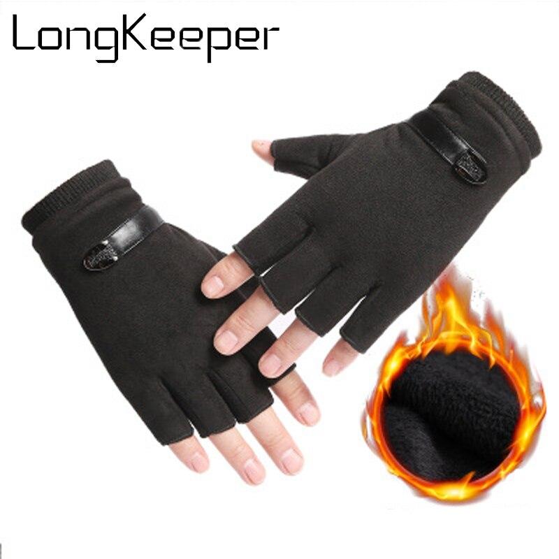 Men Fingerless Gloves Wrist Women Half Finger Glove Unisex Gym Outdoor Fitness Driving Male Gloves Mittens handschoenen luva 361