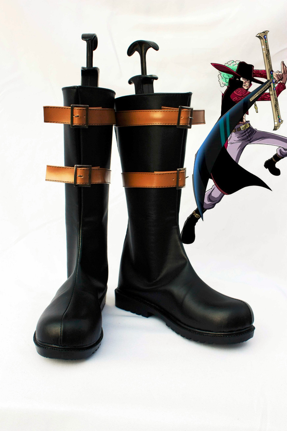 Costum hizo botas de zapatos Mihawk de One Piece - Disfraces