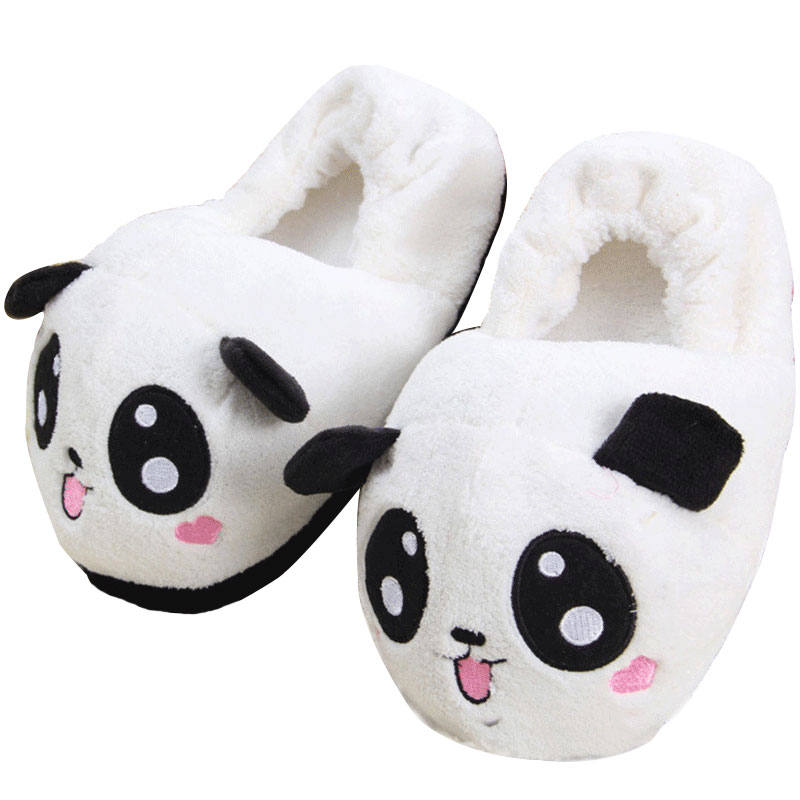 Home Slippers Cute Shoes Fluffy Slipper Room Slippers Panda Cartoon Women Shoe Indoor Slipper Female Casual House Chausson Warm designer fluffy fur women winter slippers female plush home slides indoor casual shoes chaussure femme