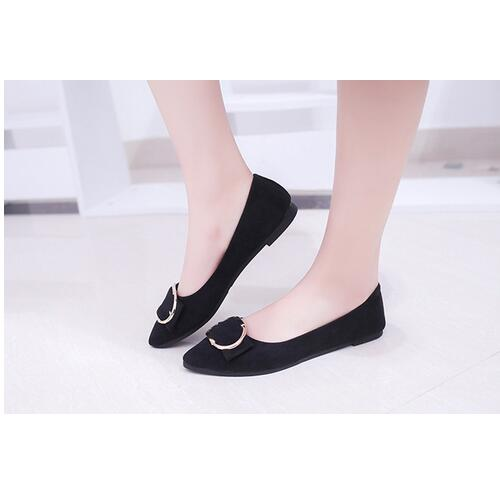 New arrival Cheap Price Pu leather pointed toe Flat With Shoes Women Comfortable Buckle Flats Daily Wear Casual Shoes women ladies flats vintage pu leather loafers pointed toe silver metal design