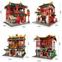 XingBao китайский творческий древний стиль Совместимость Legoed архитектура модель здания Конструкторы дом наборы для ухода за кожей развивающи