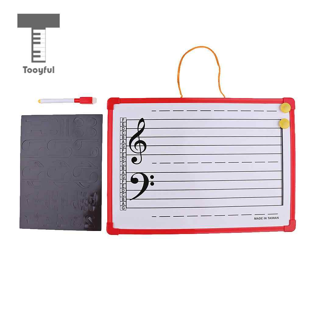 Music Notation Whiteboard Dry Erase Board with Music Staff Magnet for Meeting School Teaching