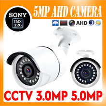 цена на 5MP AHD Camera Sony IMX326 Sensor 1080P/5MP CCTV Security AHD-H IRCut Night vision IP66 outdoor bullet Security Camera NANO LED