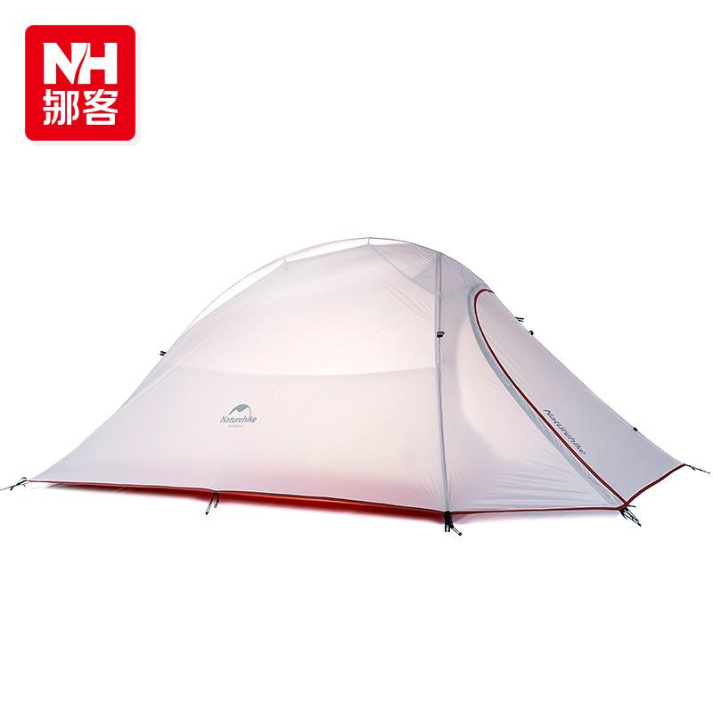 Prix pour NatureHike Ultra-Léger Imperméable À L'eau En Plein Air 4 Saison 2 Personne Tente 210 T 20D Plaid Tissu Tentes Double-couche Camping Tente par DH