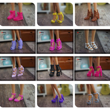US $3.0 |New 10 pair / lot Orignal Shoes for Barbie Doll High Quality Fashion Doll Accessories 1/6 Doll Shoes Flat Girls Gift-in Dolls Accessories from Toys & Hobbies on Aliexpress.com | Alibaba Group
