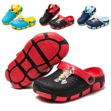 Летние пляжные шлепанцы для мальчиков; дышащие сабо из ЭВА с героями мультфильмов; тапочки унисекс; уличные детские сандалии для девочек; Милая пляжная обувь