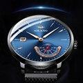 Швейцарские Аутентичные AILANG ультра-тонкие мужские часы полностью автоматические механические часы спецназ креативная концепция волна 2018 ...