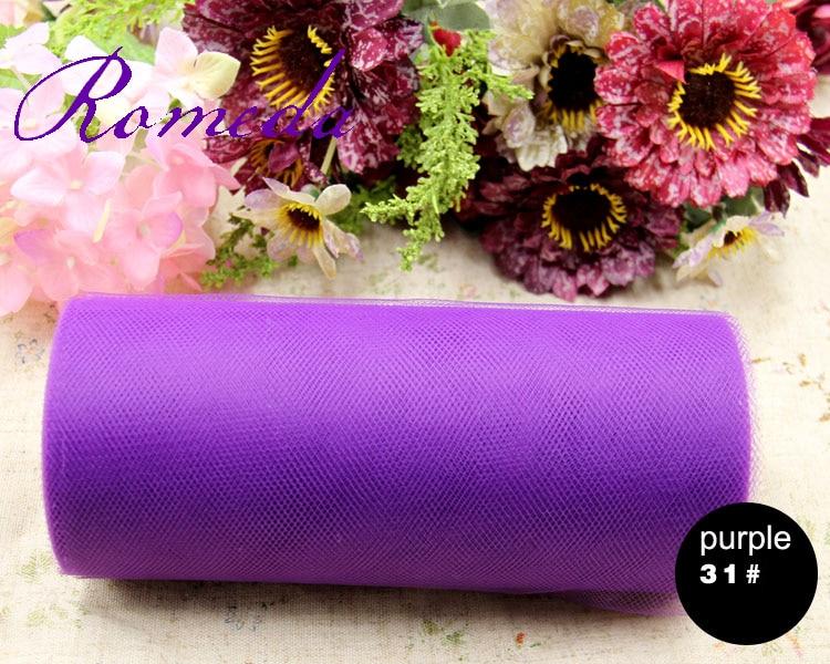 22x15 Cm Kleurrijke Tissue Tulle Roll Spool Craft Bruiloft Decoratie Organza Sheer Gaas Element Tafelloper Top Kwaliteit