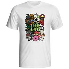 [EATGE] бренд Футболка Geek Видеоигры Ностальгию Печати Футболки Забавный Pattern Футболка Мода Белый О-Образным Вырезом Мужчины Женщины Прохладный Стиль Tee