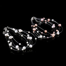 Necklace Round Crystal Star Pearl Pendants & Necklaces Multilayer Full of Stars Tassel Women Chokers