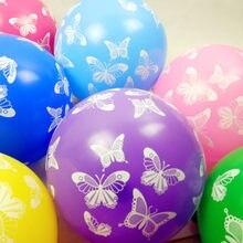 Красочные воздушные шары 100P 50P 25P, 12 дюймов, рождественские латексные шары в форме бабочки, шары для вечеринки в честь рождения ребенка, товар...